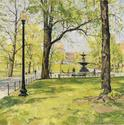Boston Common with State House, 30x30