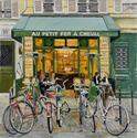 Au Petit Fer a Cheval with Bicycles, 24x24