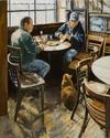 Lunch at McSorley's Bar, 30x24